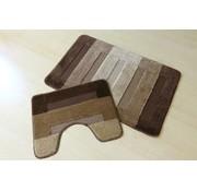 Set tapis de bain en teintes brun