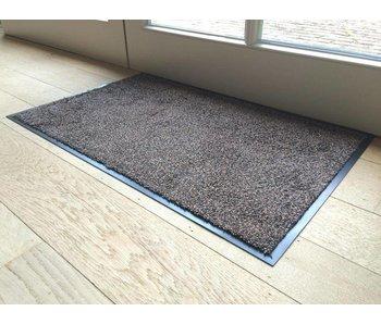 Ecologische wasbare katoenen deurmat bruin