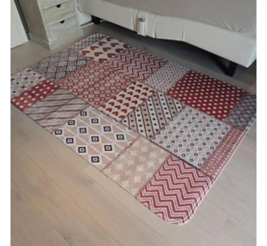 Grand tapis de jeu vintage rouge