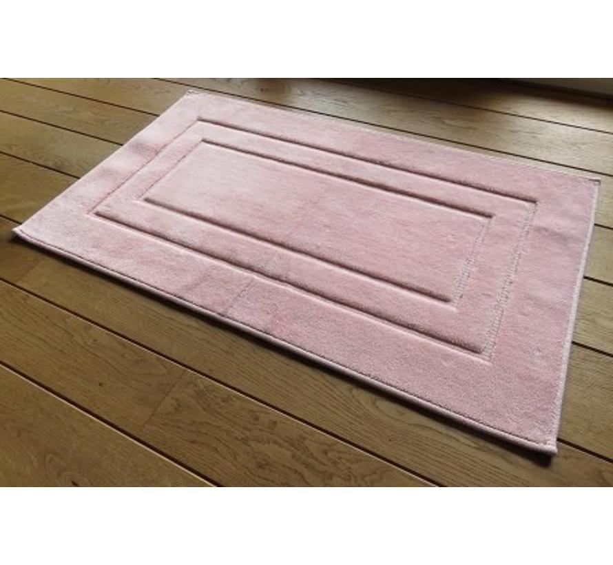 Tapis de bain rose en coton doux, dessin classique