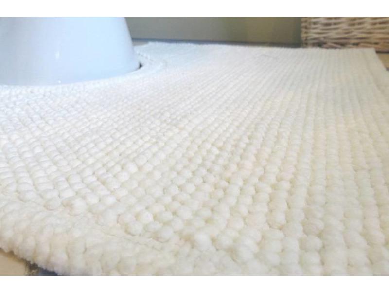 contour de toilette doux en coton chenille,crème