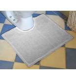 contour doux pour toilette, en coton chenille, gris clair