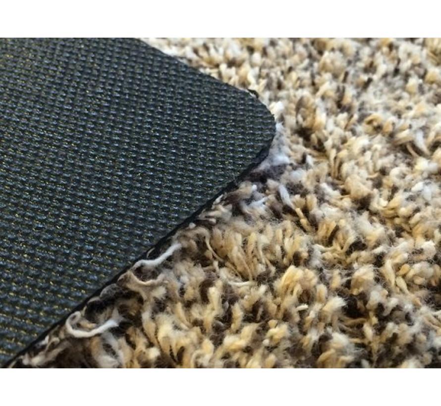 Tapis d'entrée écologique beige en coton sur mesure, 60 cm