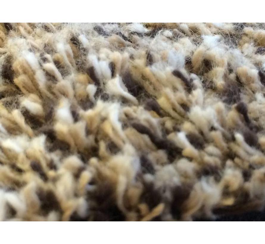 Katoenen droogloopmat op maat beige 80cm, ecologisch