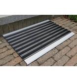 schraapmat met op- en afloop, combinatie van geanodiseerd aluminium en polyethyleen, 40x60cm