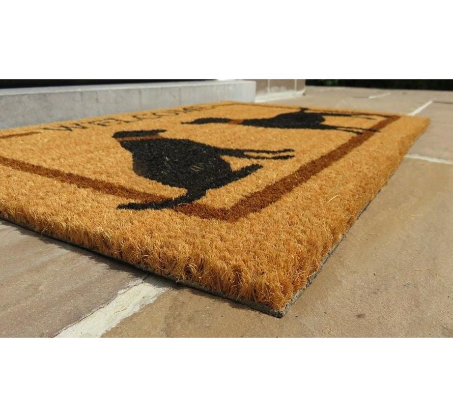 100% tapis coco imprimé à la main 40x60cm