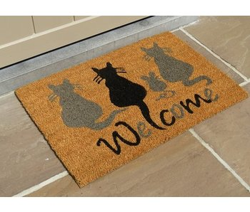 tapis coco, chats, 40x60cm