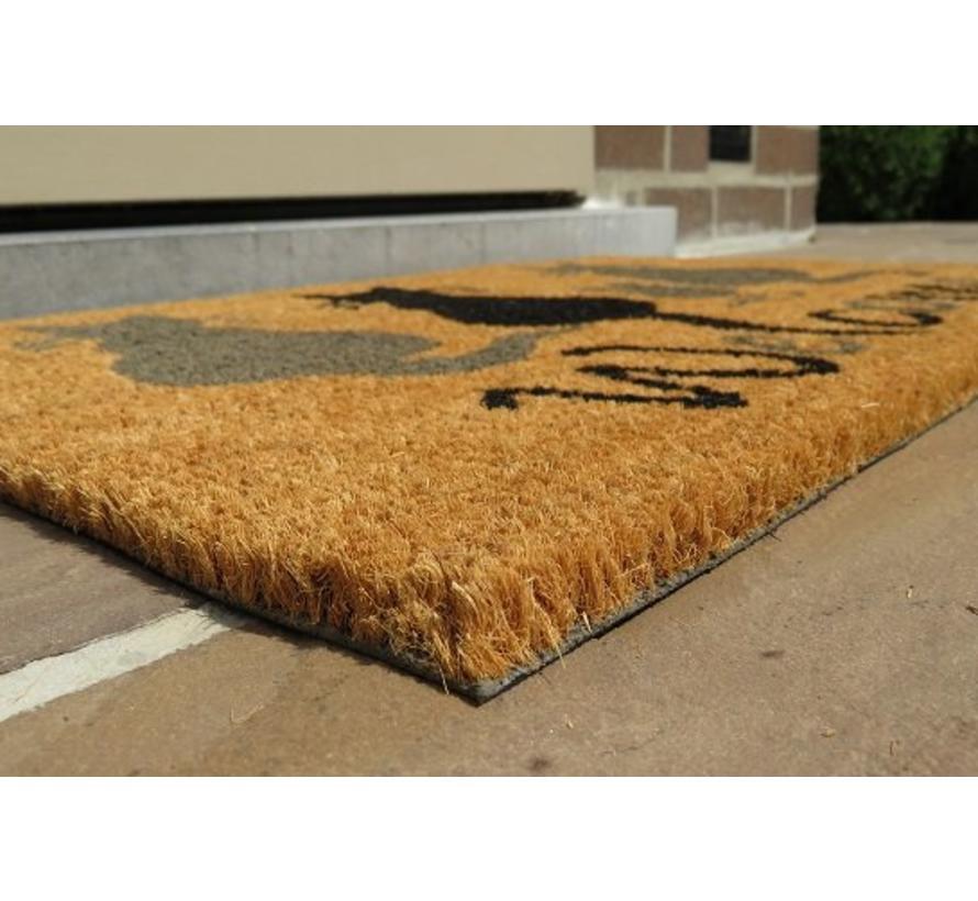100% tapis coco imprimé à la main 40x60cm, chats