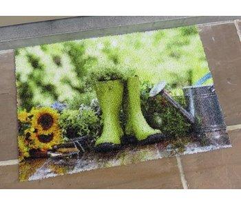 Binnen- en buiten deurmat met print