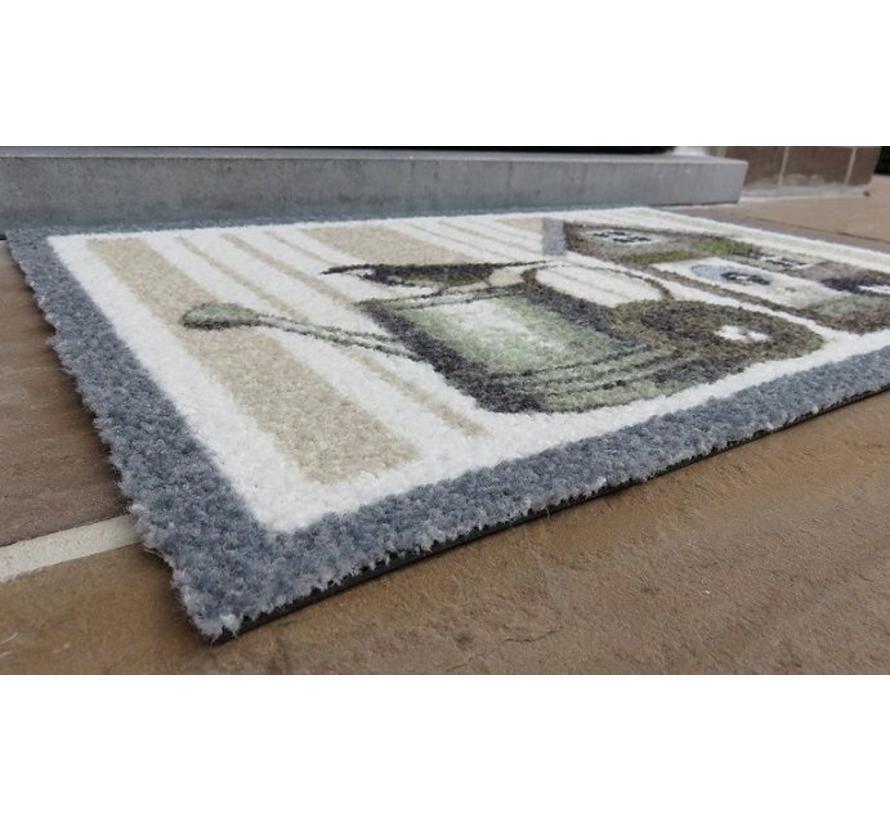 Tapis d'entrée grattant pour l'intéreieur et l'extéreieru, photo imprimé, 40x60cm et 50x80cm