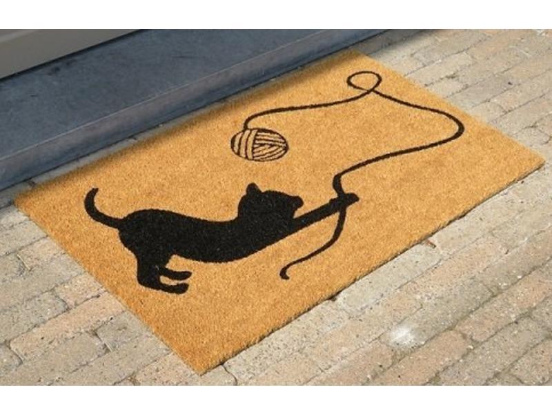 tapis coco imprimé à la main,  dessin sympa, 45x75cm