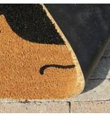tapis coco imprimé à la main, 45x75cm