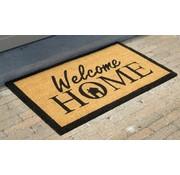 tapis coco imprimé Welcome Home, 45x75cm