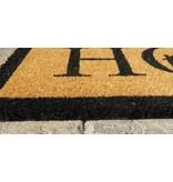 tapis coco imprimé à la main, Welcome Home, 45x75cm