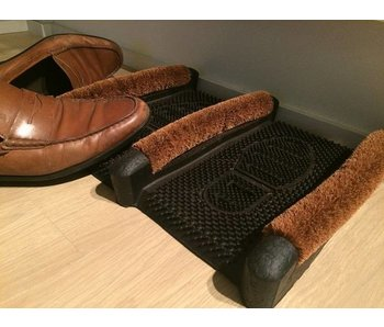 Gratte-pieds en caoutchouc et brosses à coco