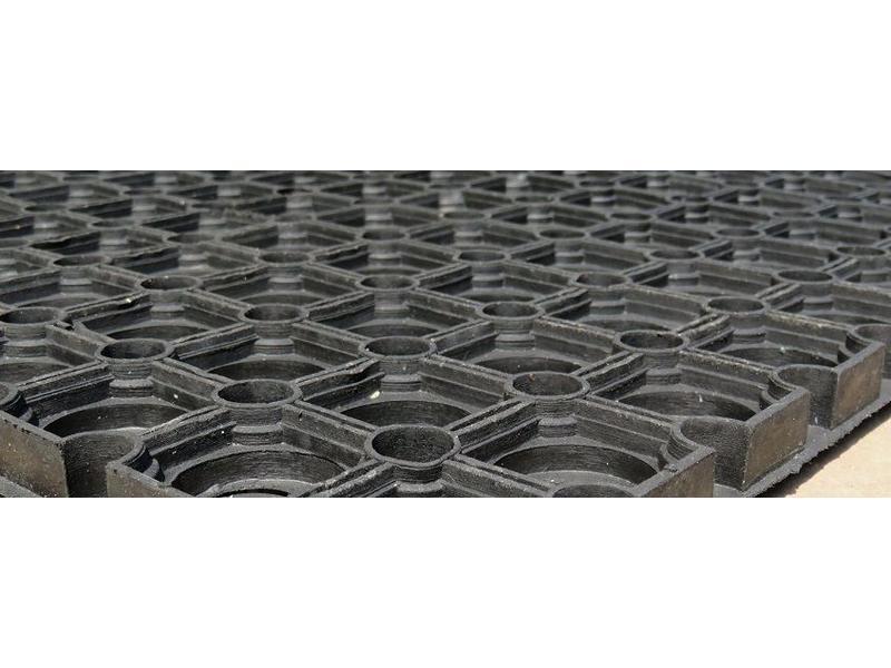 Caillebotis en caoutchouc, épaisseur 22 mm