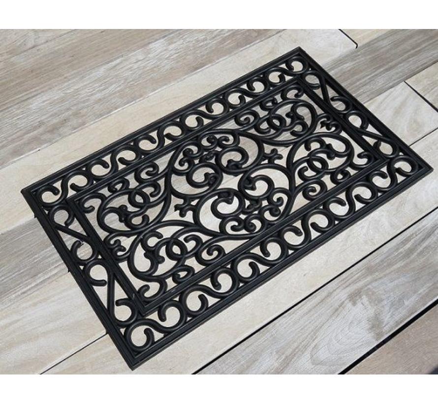 Paillasson décoratif en caoutchouc avec look fer forgé, 45x75cm