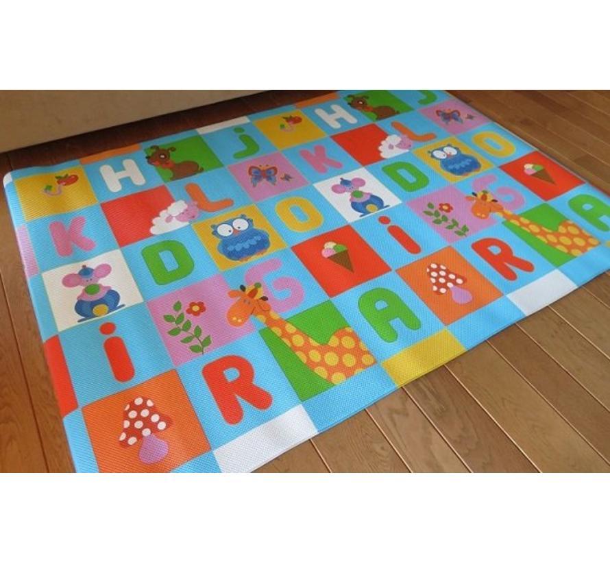 Tapis de jeu ABC lavable en grand format 140x200cm