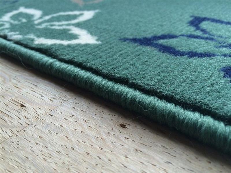 Tapis modern vert, 40x60cm