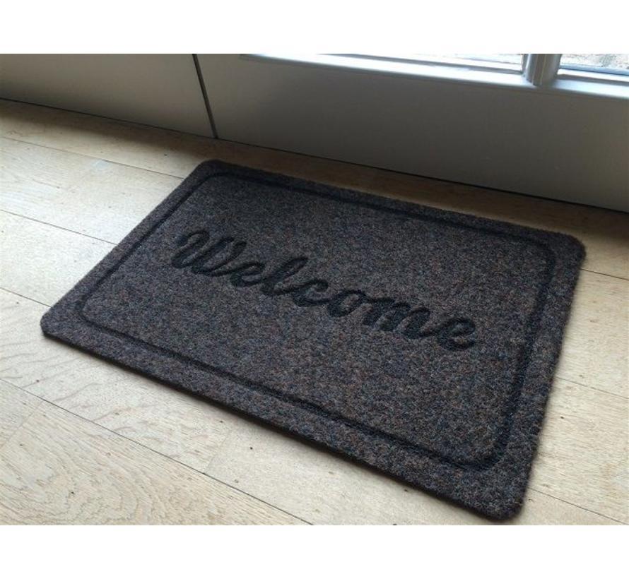 Deurmat naaldvilt antraciet Welcome