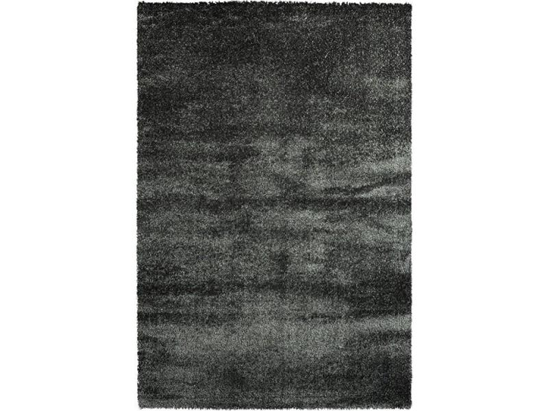 Tapis shaggy longues mèches en anthracite