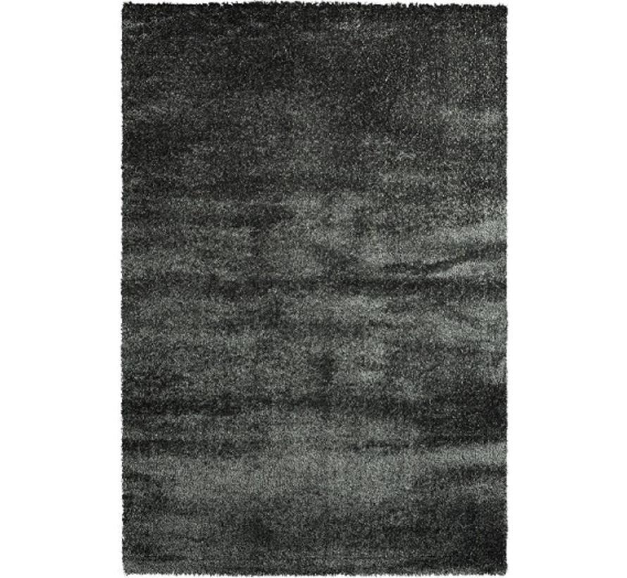 Luxueus hoogpolig tapijt in antraciet