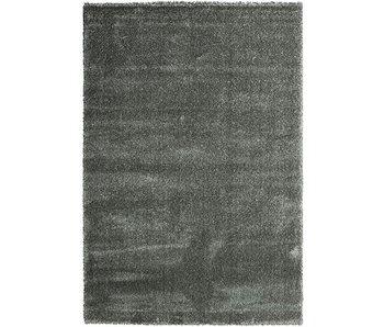 Luxe tapijt hoge pool zilverkleur