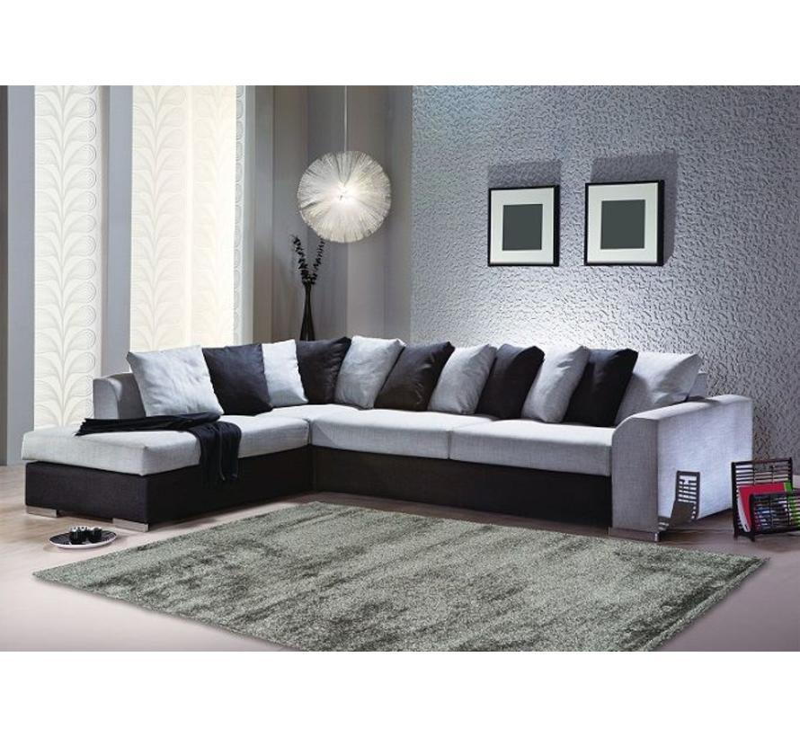 Hoogpolig tapijt zilver luxe