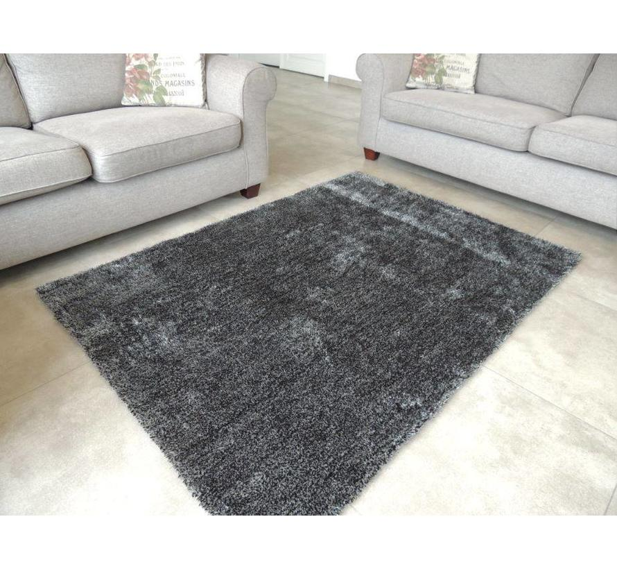 Tapis longs poils shaggy anthracite