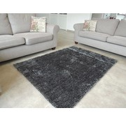 Tapis shaggy longues mèches anthracite