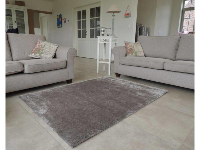 Luxueus shaggy tapijt in taupe
