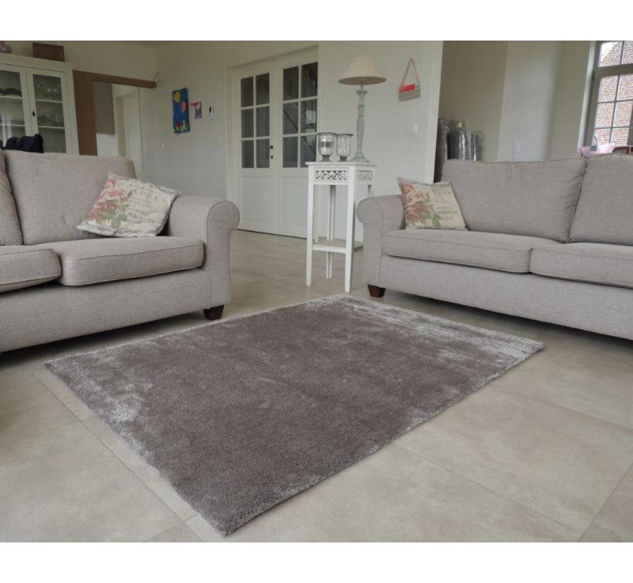 Hoogpolig tapijt taupe luxe
