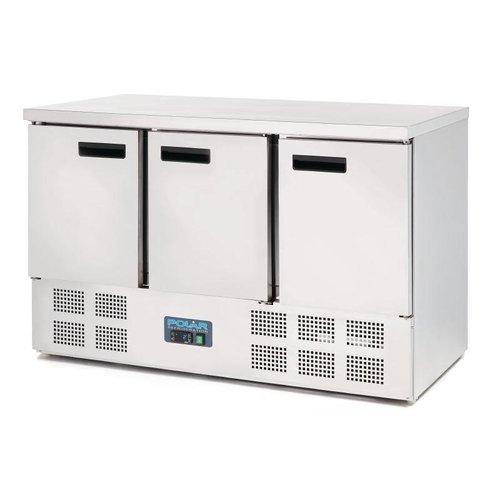 Polar Koelwerkbank 3 Deurs - Mini