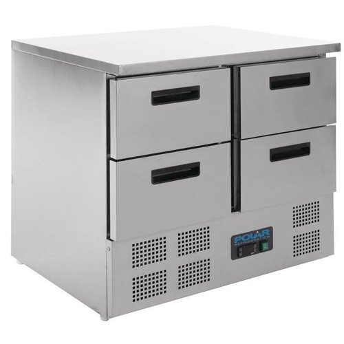 Polar Koelwerkbank met 4 Laden - Mini