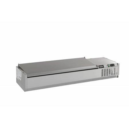 Combisteel Opzetvitrine GN 1/4 - 150cm RVS deksel