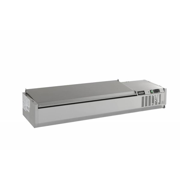 Combisteel Opzetvitrine GN 1/4 - 200cm RVS deksel
