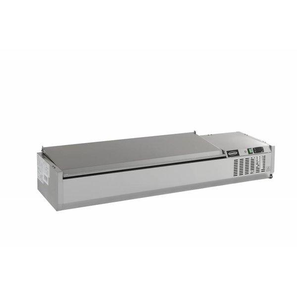 Combisteel Opzetvitrine GN 1/3 - 120cm RVS deksel