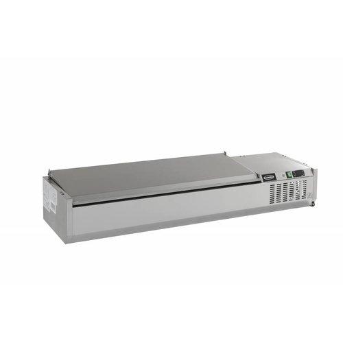 Combisteel Opzetvitrine GN 1/3 - 150cm RVS deksel