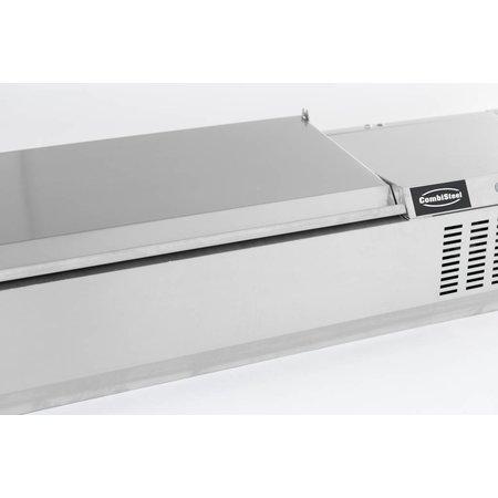 Combisteel Opzetvitrine GN 1/3 - 200cm RVS deksel