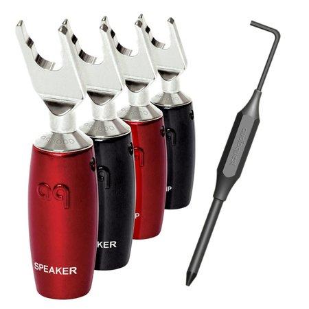 AudioQuest 1000 Series Multi-Spade Zilver