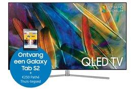 Ontvang een Galaxy Tab en Pathé Thuis-tegoed bij aankoop van een QLED of Premium UHD TV
