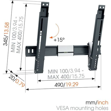 Vogel's THIN 415 ExtraThin Tilting TV Wall Mount