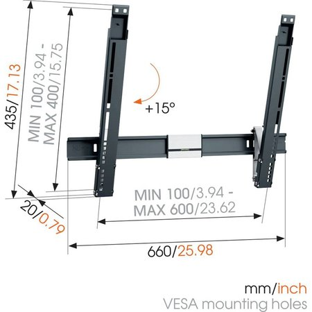 Vogel's THIN 515 ExtraThin Tilting TV Wall Mount