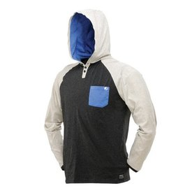 COBA HOOD SHIRT <br /> Heather/Gray/Blue