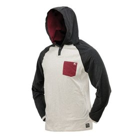 COBA HOOD SHIRT <br /> Off White/Maroon