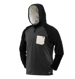 COBA HOOD SHIRT <br /> Heather/Gray/Black