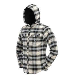 HOODED FLANNEL <br /> Blue/Tan
