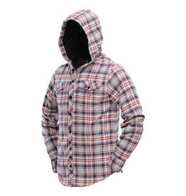 HOODED FLANNEL<br /> Gray/Red