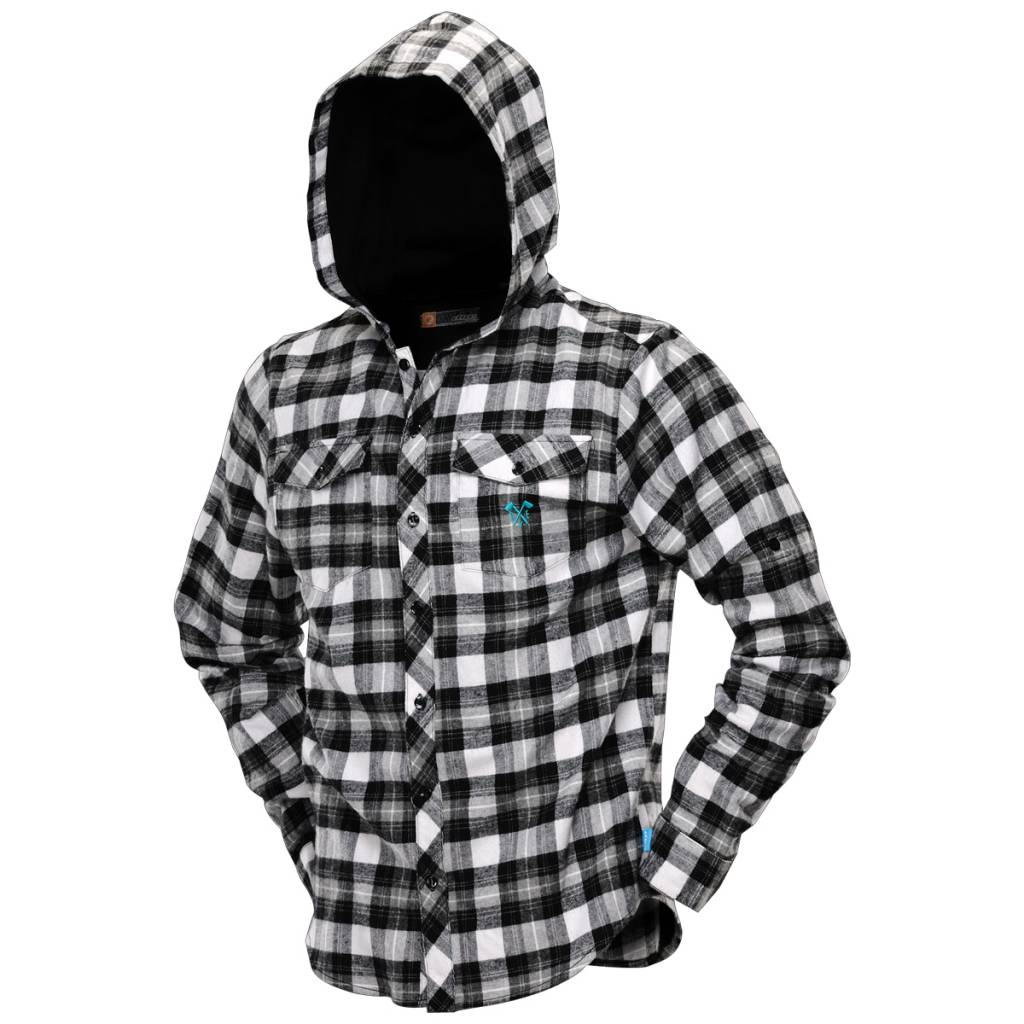 FLANNEL LUMBERJACK HOODED Black