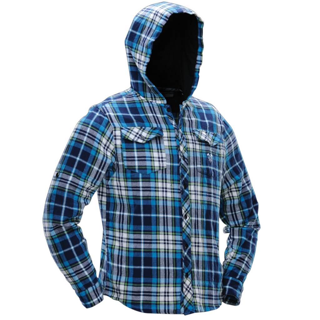 FLANNEL LUMBERJACK HOODED Blue